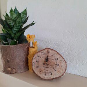 houten klok met eigen tekst